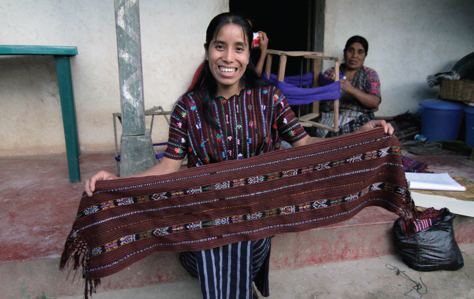 Rosa Living on one dollar weaving