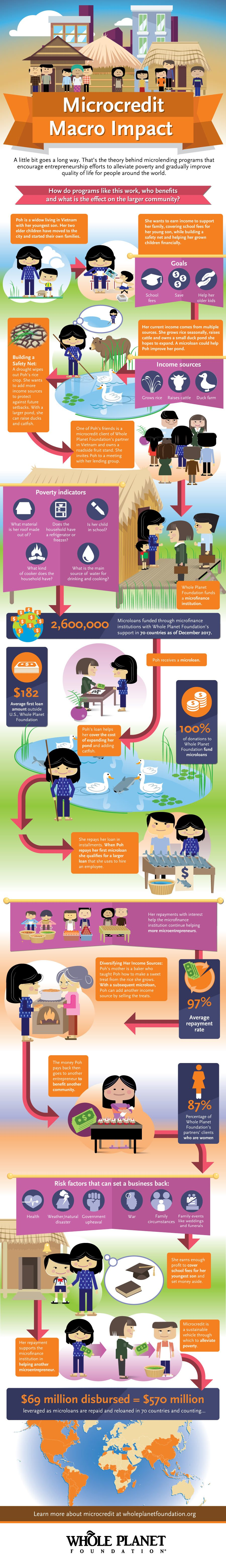 how microcredit works infographic