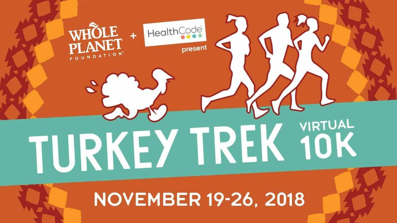 turkey trek virtual 10k run turkey trot for charity