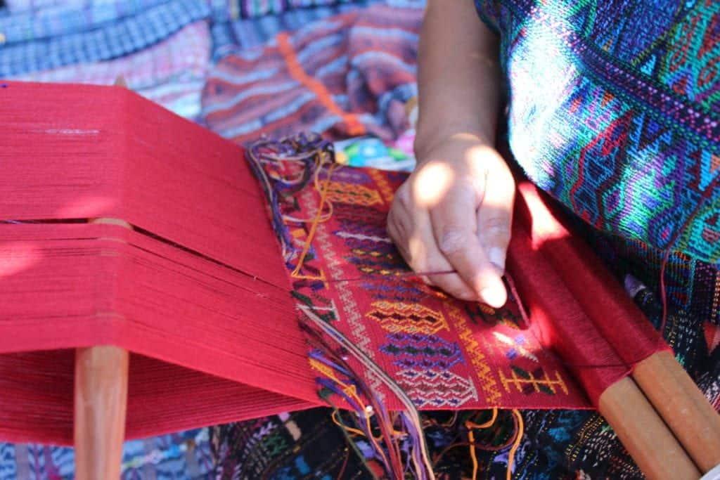 backstrap loom weaver guatemala