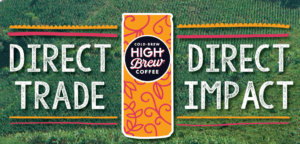 high brew coffee direct trade direct impact graphic